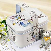 Ретро Tote ювелирные изделия ящик для хранения чая кофе конфеты Контейнер Box Организация