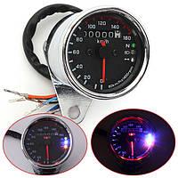 Универсальный мотоцикл LED двойной одометр испытаний милях спидометра