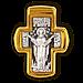 Крест Распятие Христово. Преподобный Сергий Радонежский., фото 2