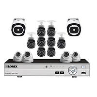 Система видеонаблюдения Lorex,16-канальная система безопасности HD с 2 тепловизорами и 12 камерами HD 1080p