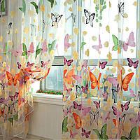 Бабочка печатных чистой окна шторы тюль двери окна экрана