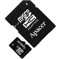 Карта памяти APACER microSDHC 16GB Class 4+adapter