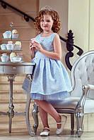 Нарядное платье Зиронька Принцесса, небесно-голубой (р.116)
