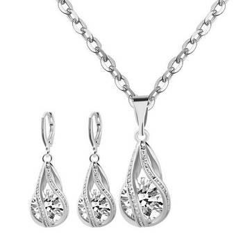 Комплект сережки з підвіскою Primo Silver Drop