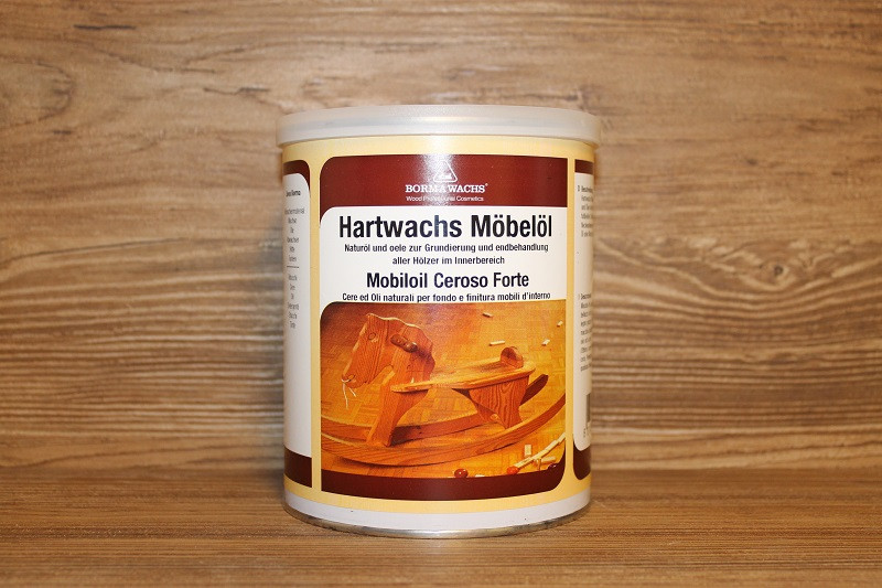 Масло-воск для мебели, Hard Furniture Wax Oil, Borma Wachs, Interior Line, 1 литр