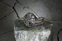 """Мужская печатка серебро 925 """"Крест"""""""