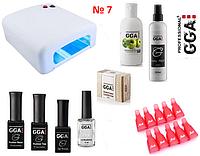 Стартовый набор с лампой для маникюра GGA Professional №7