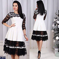 Женское платье  с гипюром