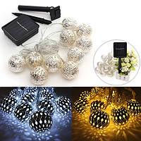 10 LED 3 метра солнечной фонарь строка фея света Рождество шарика светильника
