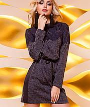 Женское ангоровое платье-туника с кружевом (Эрика jd), фото 2