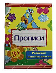 Прописи на Укр.языке Пишемо Друкованi букви В-5 24 стр от 3 лет