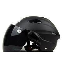 Половина лица мотоцикла лета уф защитный шлем внедорожного