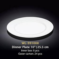 Тарелка для вторых блюд, круглая, диаметр 255мм