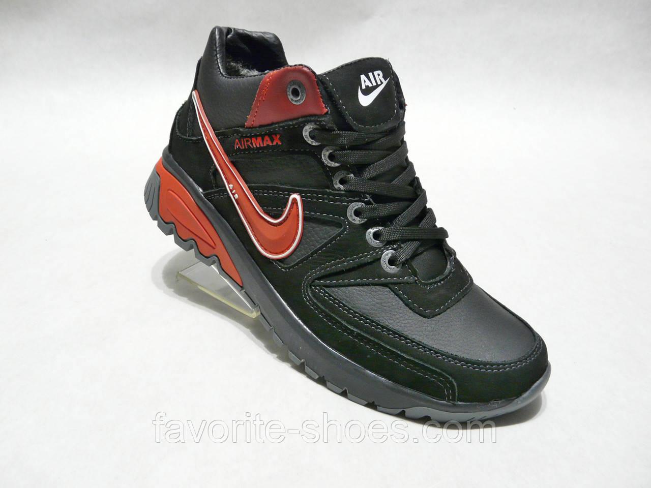 Зимние мужские кожаные кроссовки Nike Gepard новый
