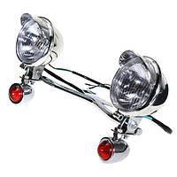 Turn Light Spot Lightt Bar Проход Лампа Для Harley Davidson Honda Kawasaki Vulcan
