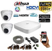 Комплект видеонаблюдения 2 камеры внутренние Dahua