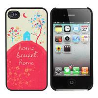 Красочный мультфильм милый дом матовый жесткий задняя крышка для iPhone 4 и 4S