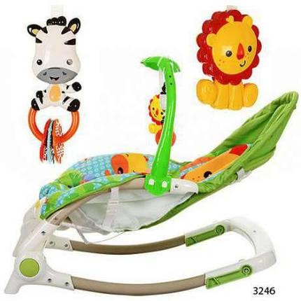 Шезлонг качалка детский Bambi М 3246-1 с музыкой и вибро, фото 2