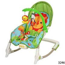 Шезлонг качалка детский Bambi М 3246-1 с музыкой и вибро, фото 3