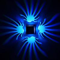 Современные наивысшей мощности 3W цветок Стрежевой LED украшение бра настенные светильники