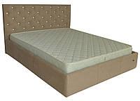 Кровать двуспальная Ковентри Мисти Мокко со стразами, 160х200