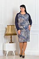 Теплое платье для полных женщин м316