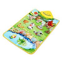 Ребенок животноводческая ферма музыкальный коврик сенсорный пение ковер детский образовательные игрушки