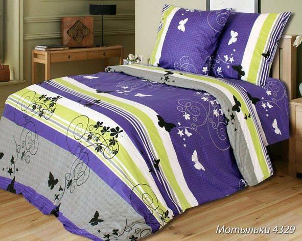 Двуспальный комплект постельного белья Мотыльки, фото 2