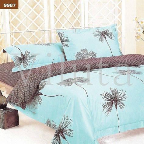 Комплект постельного белья двуспальный 175*210 ранфорс TM Viluta (9987), фото 2