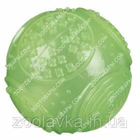 Игрушка для собак Trixie 33646 Мяч фосфоресцирующий с термопластичной резины