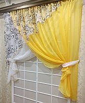 """Кухонные шторы """"Луиза"""" Желтая, фото 3"""