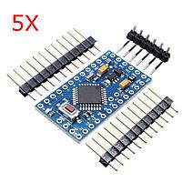 5Pcs ATMEGA328 328p 5V 16MHz Arduino Совместимая плата модуля размера Nano