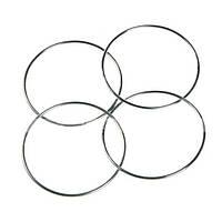 Китайский магии 4 соединительные кольца серебро 4 шт