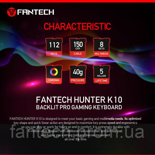Игровая клавиатура FANTECH K10 HUNTER, фото 3