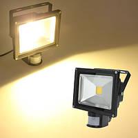 20W теплый белый 1550lm pir датчик детектив LED свет потока 85-265 В переменного тока