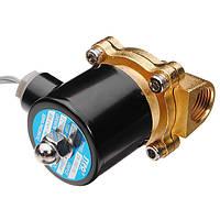 Латунь постоянного тока 24В 1/2 дюйма электрический воздуха воды газа топлива электромагнитный клапан