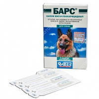 Барс капли противопаразитарные для собак