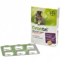 Дронтал Плюс (Drontal plus) таблетки с вкусом мяса для собак, 1 таблетка