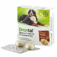Дронтал Плюс XL (Drontal plus XL) Антигельминтик с вкусом мяса для собак