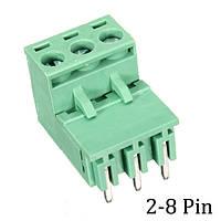 Excellway® DR55 10 штук 2-8pins Изогнутые 5.08mm Съемные клеммные колодки Разъем