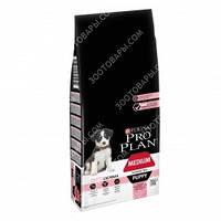 Pro Plan PUPPY MEDIUM Sensitive Skin OPTIDERMA Сухой корм для щенков средних пород с лососем и рисом 12кг