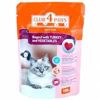 Клуб 4 Лапы (пауч) Консервы для кошек Рагу с индейкой и овощами