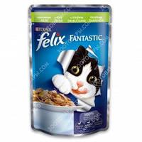Purina Felix Fantastic Консервы для кошек с кроликом в желе 100 гр