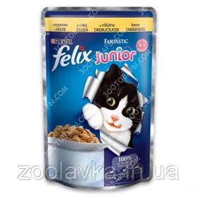 Purina Felix Fantastic JUNIOR Консерви для кошенят з куркою в желе 100 гр