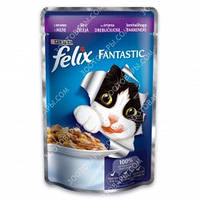 Purina Felix Fantastic Консервы для кошек с ягненком в желе 100 гр