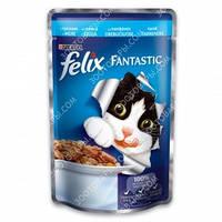 Purina Felix Fantastic Консервы для кошек с треской в желе 100 гр