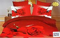 Сатиновое постельное белье евро 3D ELWAY S255