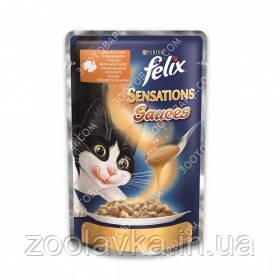 Felix Sensation Sauces Консерви для кішок з індичкою в соусі