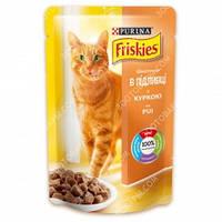 Purina Friskies Консервы для кошек с кусочки в подливе с курицей 100 гр