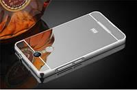 Металлический бампер с акриловой вставкой с зеркальным покрытием для Xiaomi Redmi Note 4 (MTK)